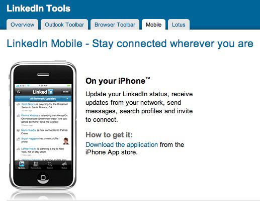 Meer informatie over LinkedIn Mobile